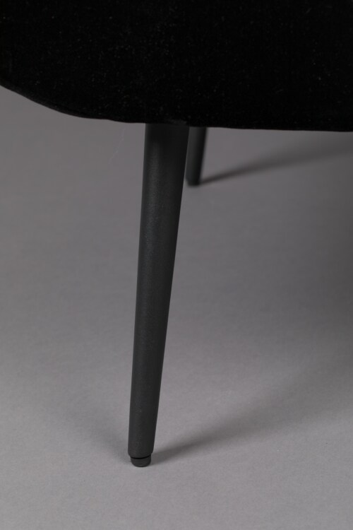 Dutchbone Glodis Lounge Chair-Nero