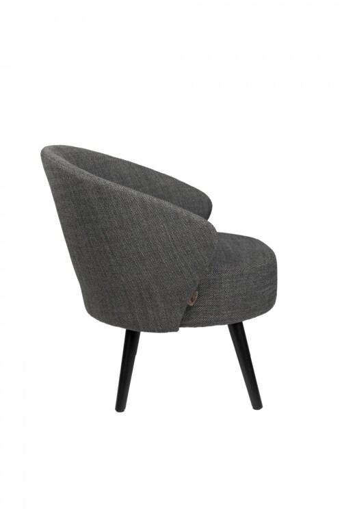 Dutchbone Waldo lounge chair -Anthracite