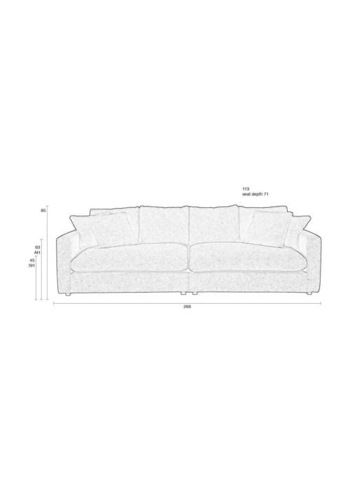Zuiver Sense sofa bank-Cream