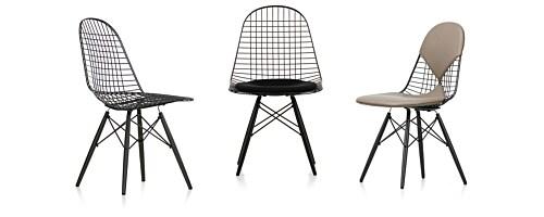 Vitra Eames Wire Chair DKW onderstel esdoorn stoel-Hopsak 66