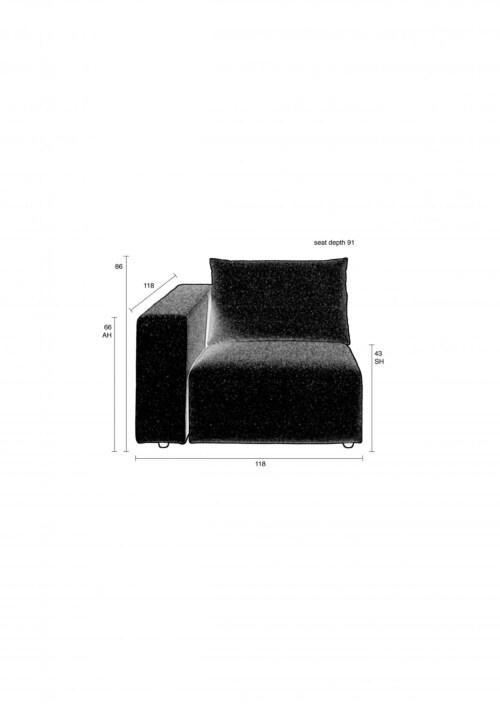 Zuiver Breeze arm links element-Grey
