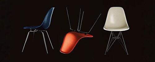 DSW Fiberglass stoel onderstel donker esdoorn