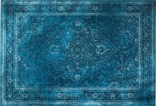 Dutchbone Rugged vloerkleed-Blauw-200x300 cm