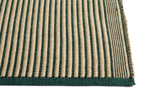 HAY Tapis vloerkleed-Black and Green-80x200 cm