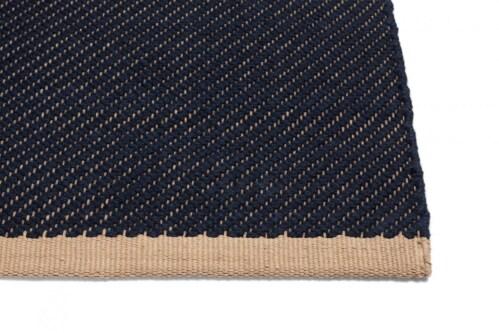 HAY Bias Rug vloerkleed-Dark Blue-80x200 cm