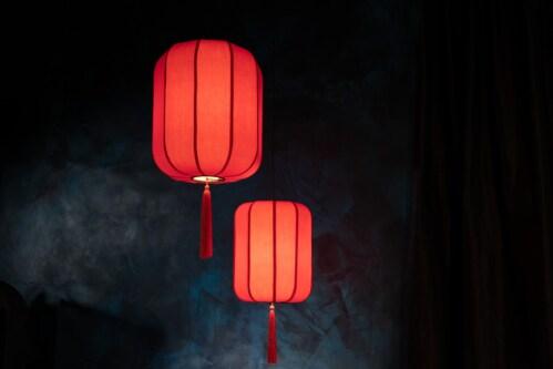 Dutchbone Suoni hanglamp-Rood-L