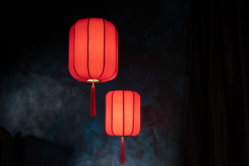 Dutchbone Suoni hanglamp-Rood-S