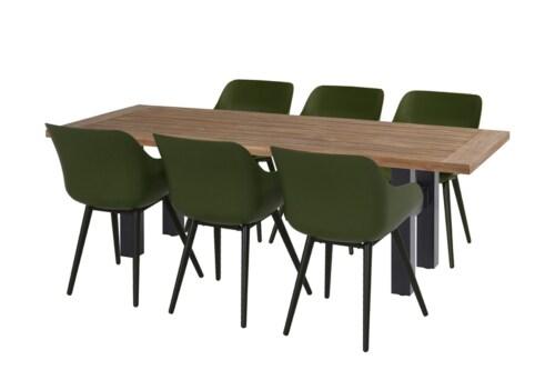 Hartman Sophie Yasmani Brown tafel-300x100 cm-Zwart
