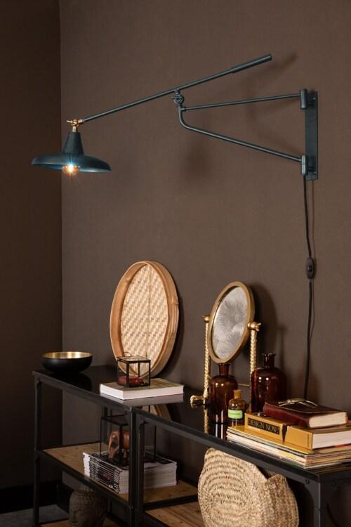 Dutchbone Hector wandlamp-Blauw