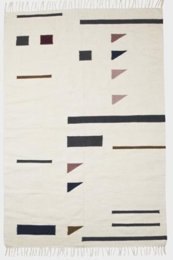 Ferm Living Kelim Colour Triangles vloerkleed-80x140 cm