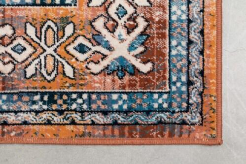 Dutchbone Mahal kleed-Blue/Brick-170x240 cm