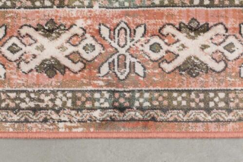 Dutchbone Mahal kleed-Pink/Olive-170x240 cm