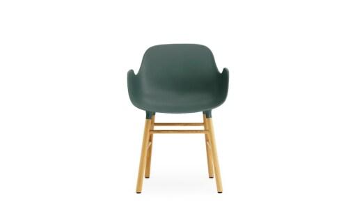 Normann Copenhagen stoel Form armchair eiken-Groen