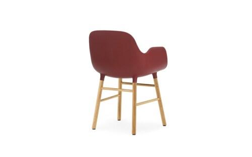 Normann Copenhagen stoel Form armchair eiken-Rood