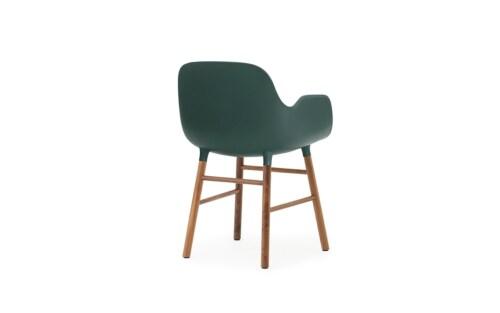 Normann Copenhagen stoel Form armchair noten-Groen
