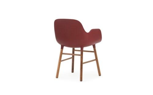 Normann Copenhagen stoel Form armchair noten-Rood