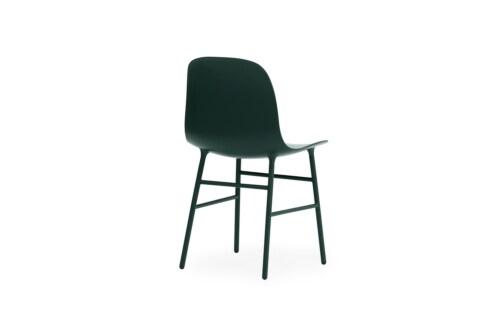 Normann Copenhagen Form stoel met stalen onderstel-Groen