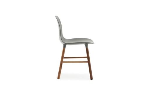 Normann Copenhagen Form Chair stoel noten-Grijs