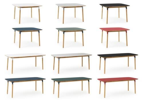 Normann Copenhagen Form tafel-Rood-120x120 cm