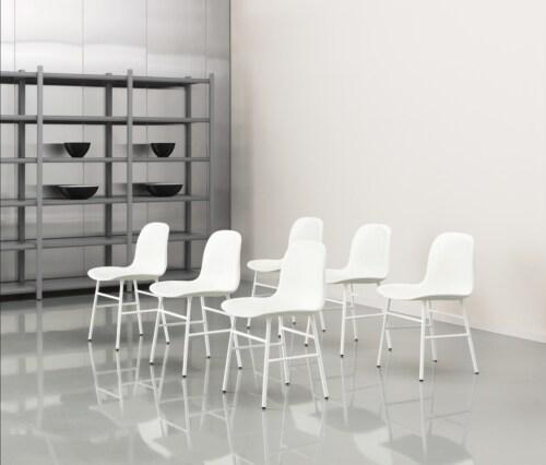 Normann Copenhagen Form stoel met stalen onderstel-Wit