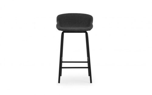 Normann Copenhagen Hyg barkruk full upholstery-Zwart-Zithoogte 65 cm