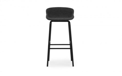 Normann Copenhagen Hyg barkruk full upholstery-Zwart-Zithoogte 75 cm