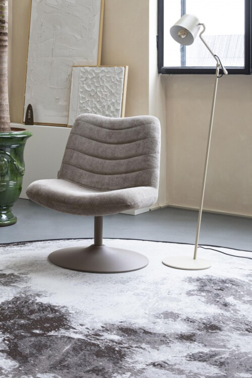 Zuiver Moon vloerkleed-Stone grey-Ø 200 cm