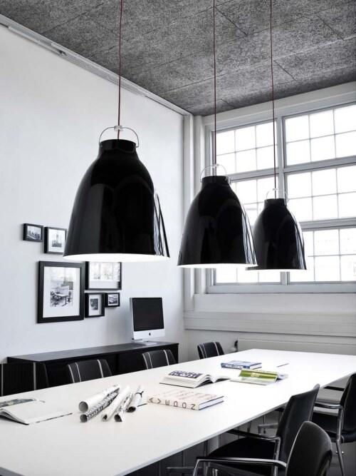 Lightyears Caravaggio glossy P4 hanglamp-Zwart-zwart