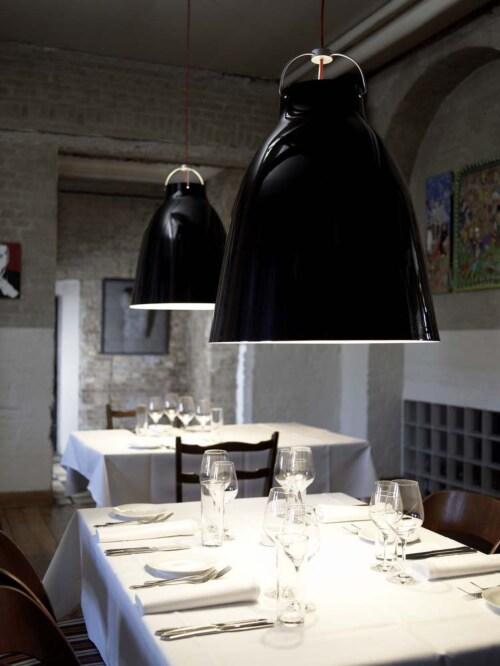 Lightyears Caravaggio glossy P4 hanglamp-Zwart