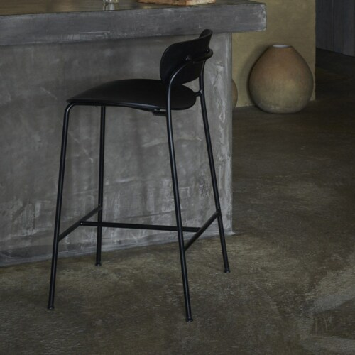 &tradition Pavilion AV9 75 cm barkruk-Zwart gelakt