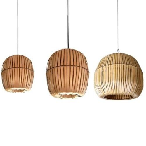 Ay illuminate Kiwi Bamboo hanglamp-Large