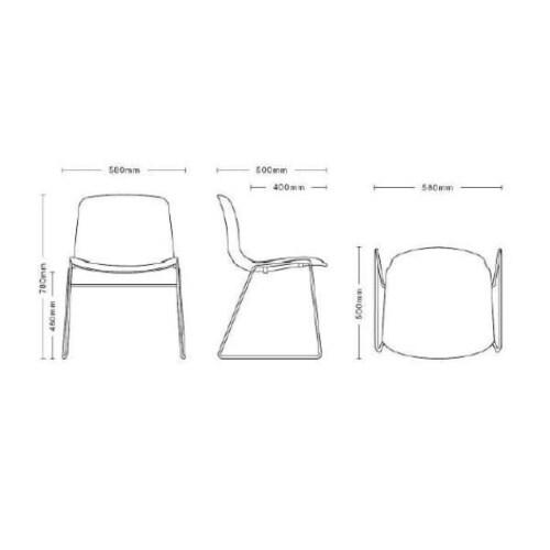 HAY About a Chair AAC08 wit onderstel stoel-Zwart