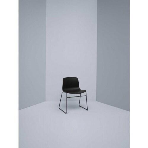 HAY About a Chair AAC08 wit onderstel stoel-Blauw-grijs