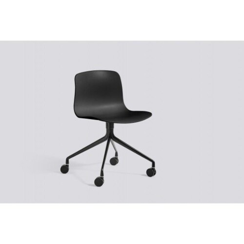 HAY About a Chair AAC14 zwart onderstel stoel-Licht grijs