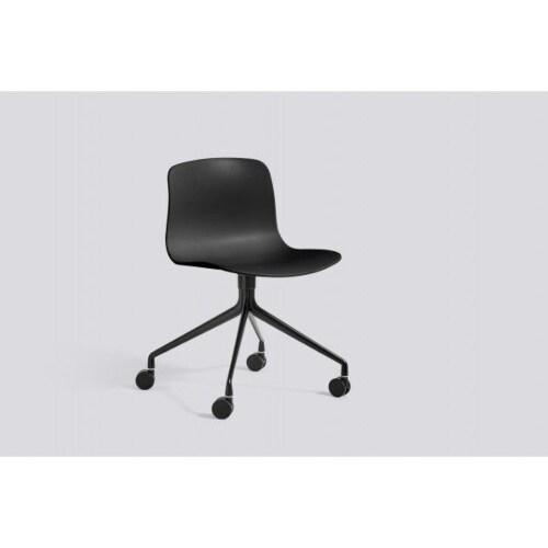 HAY About a Chair AAC14 zwart onderstel stoel-Rood