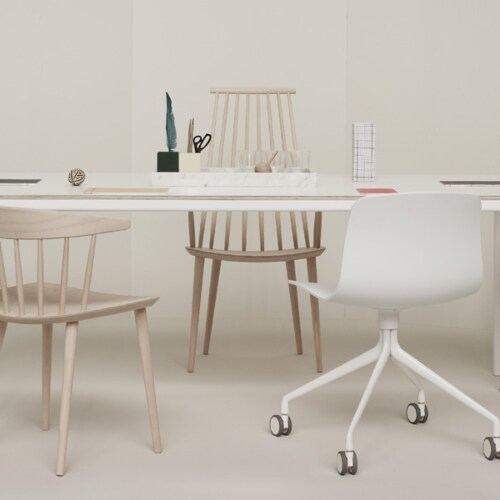 HAY About a Chair AAC14 wit onderstel stoel-Licht grijs