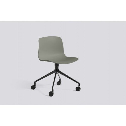 HAY About a Chair AAC14 zwart onderstel stoel-Antraciet