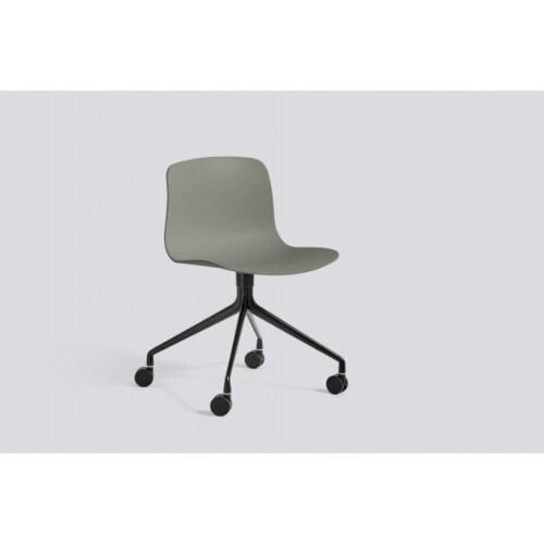 HAY About a Chair AAC14 zwart onderstel stoel-Grijs