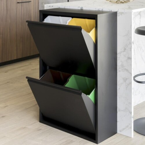 Spinder Design Gigi afvalscheider-4 vakken
