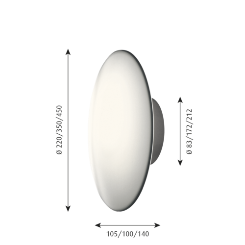 Louis Poulsen AJ Eklipta LED wand/plafondlamp-∅ 22 cm
