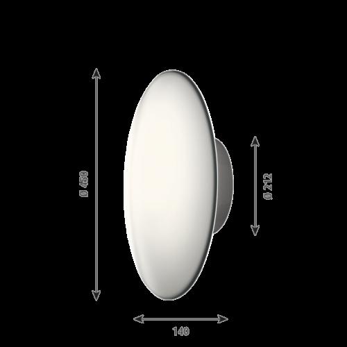 Louis Poulsen AJ Eklipta wand/plafondlamp-∅ 45 cm