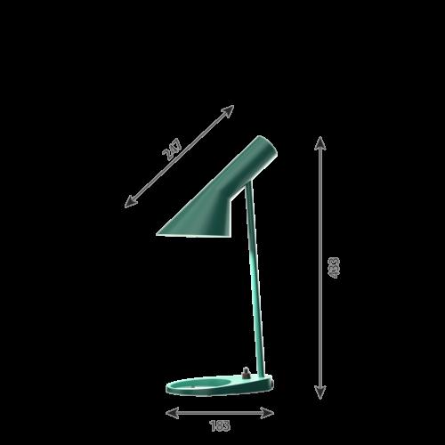 Louis Poulsen AJ Mini Tafel tafellamp-Donker groen
