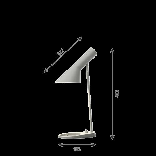 Louis Poulsen AJ Mini Tafel tafellamp-Grijs