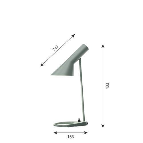 Louis Poulsen AJ Mini Tafel tafellamp-Bleek petroleum