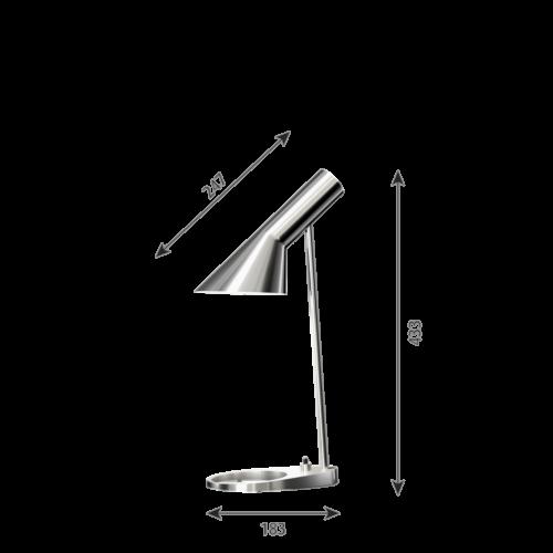 Louis Poulsen AJ Mini Tafel tafellamp-RVS gepolijst