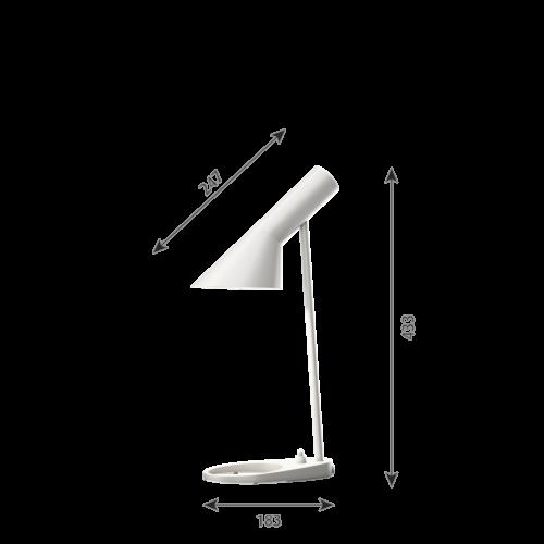 Louis Poulsen AJ Mini Tafel tafellamp-Wit