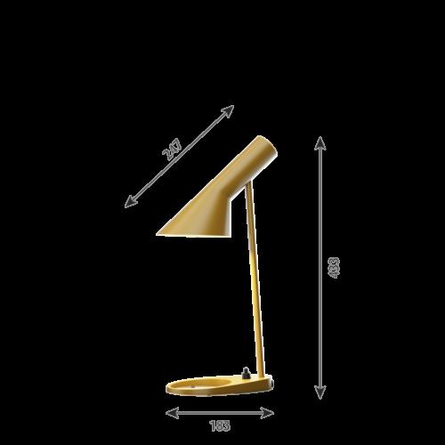 Louis Poulsen AJ Mini Tafel tafellamp-Oker geel