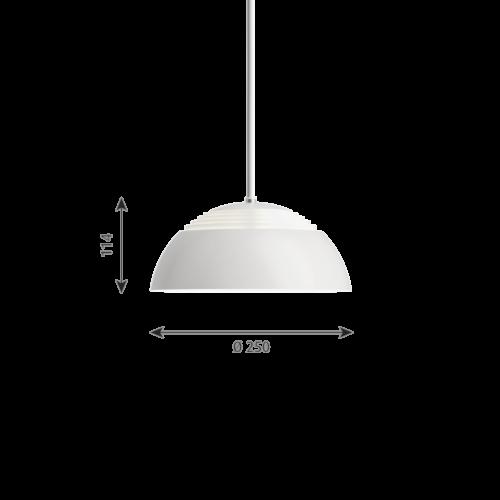 Louis Poulsen AJ Royal wit hanglamp-∅ 25 cm