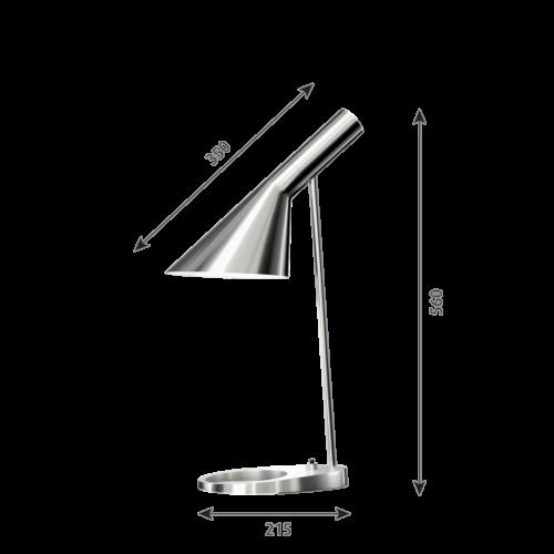 Louis Poulsen AJ Tafel tafellamp-RVS gepolijst