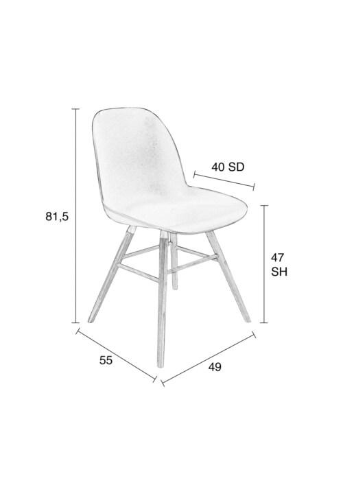 Zuiver Albert Kuip stoel-Licht grijs